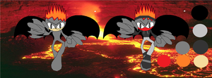 Lavell the Lava Dragon Bio and Ref Description by LeaderOfJetPilots