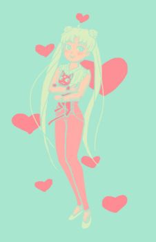 Palette challenge: Usagi in #4 by Jequila