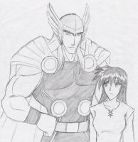 WhisperingKage Request: Thor x Kagome by Zero-Kiba