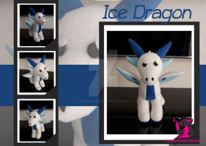 Ice dragon - Standing plush by FurryFursuitMaker