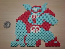 Defeated Pig Ganon Perler by Perler-Pop