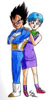 Vegeta and Bulma - My Hero by Jaylastar