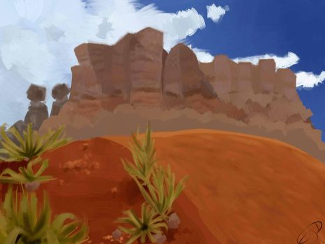Bent Desert  -  My second scenery attempt by EgeDo