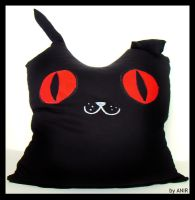 cat plush pillow by AnirBrokenear