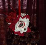 My first mini hat - RED ROSES by Prepare-Your-Bladder