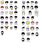 Naruto chibiheads YAY by kissenliebe