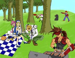 Guilty Gear Picnic by snowboundspirit