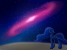 Lost on the Moon by JustArt101