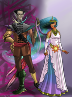 Human Discord and Celestia by Nouveau-Charles