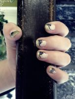 Beauty and the Beast inspired nail art by rockheartblondie
