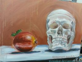 Skull and Fruit by NynjaKat