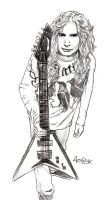 "Dave Mustaine sketch: ""Guitar"" by Red-Szajn"