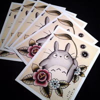 Totoro Tattoo Flash Prints by Michelle Coffee by misscoffee