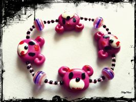 Gloomy Bear Bracelet by Cateaclysmic