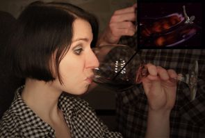 Wine Vore by GiantessEating