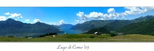 panorama lago di como in Italy by musback