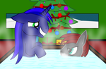 Shiny and DoomKeiser taking a bath together by Imp344