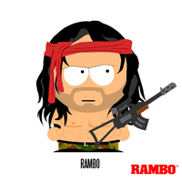 South Park: Rambo by MrAngryDog