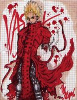 Vash vs. Graph Paper by saintelle