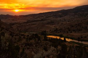 Sunset in Eastern Oregon by LuKaG2906