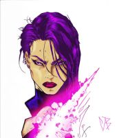 Psylocke Colored with Effects by BLIX007