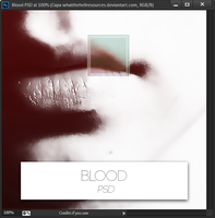 Blood | PSD | by WhatTheHellResources