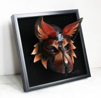 Shadow Box Wolf Mask by nondecaf
