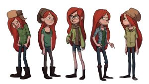 Hipster Wendy Costumes by TheAmoebic