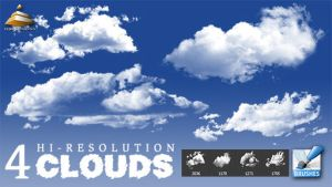 4 Hi-Res Clouds Brushes by HJR-Designs