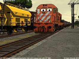 CP1559 passes... 190710 by Comboio-Bolt