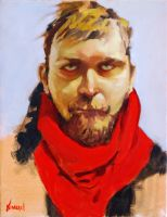 Portrait with Red Scarf by StuartKimbrell