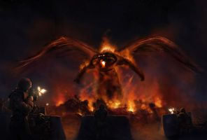 The attack of Balrog by AlvaroSanJuan