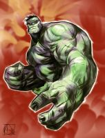 Hulk iPad sketch by ARTofANT