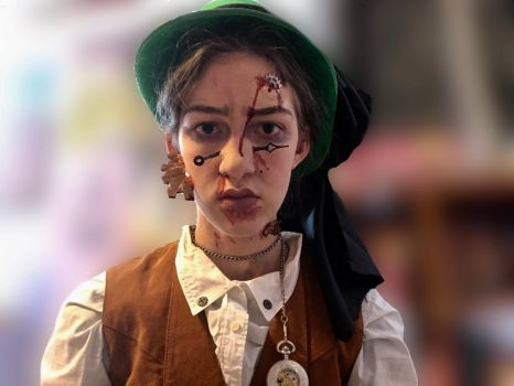 Clockwork SFX Makeup  by Gabby-The-Hatter