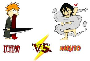 ichigo VS naruto by welovemelons