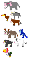 Compilcation of critters by ManticoreWarrior21