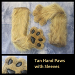 Tan Hand Paws with Sleeves by Lascivus-Lutra