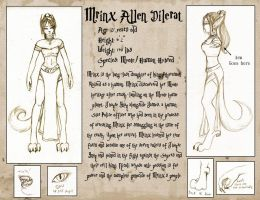 Mrinx's Character Sheet by Myotes