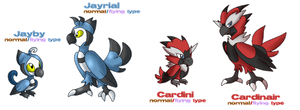 Fakemon: Rival Birds by glitchgoat