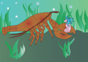 that's a BIG lobster by RevRuby