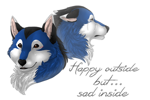 ..: Happy outside but...:.. by Freewolf7