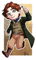 Chibi Eighth Doctor TIME WAR EDITION by TwinEnigma