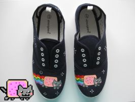 Nyan Cat Shoes by Frainy
