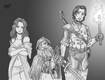 The Mage, the Rogue and the Whimpering Bard by Shabazik