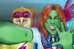 Young Justice: Last Second Photobomb by Broken-Endings