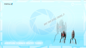Portal 2 Sentry Turret WP by M24Designs