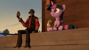(SFM) Sniper, Twilight and their Owls by TheYoshiPunch