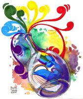 Whale-rainbow in a bottle by brunoces