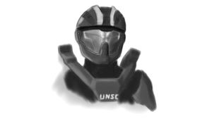 Spartan Sketch (WIP) by w0lfix