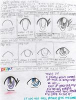 Anime eye tutorial by minamongoose